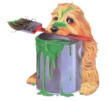 Cão pintor